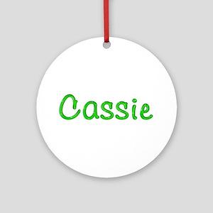 Cassie Glitter Gel Round Ornament