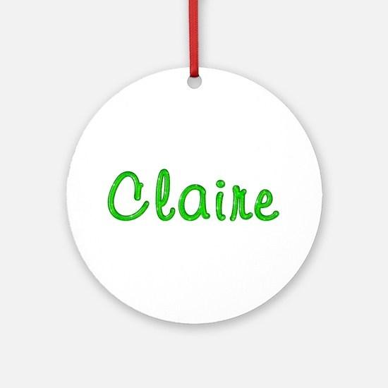 Claire Glitter Gel Round Ornament