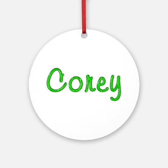 Corey Glitter Gel Round Ornament