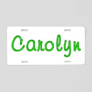 Carolyn Glitter Gel Aluminum License Plate