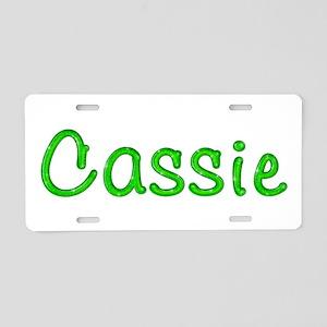 Cassie Glitter Gel Aluminum License Plate