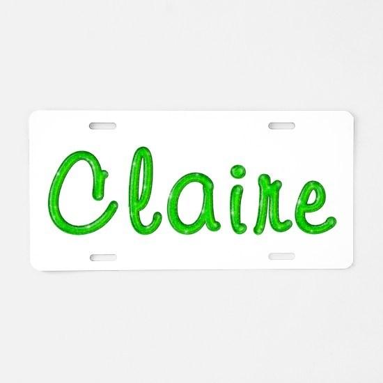 Claire Glitter Gel Aluminum License Plate