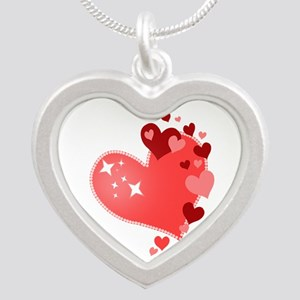 I Love You Hearts Silver Heart Necklace