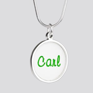 Carl Glitter Gel Silver Round Necklace