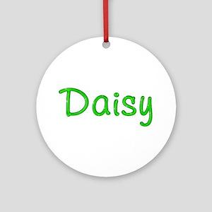 Daisy Glitter Gel Round Ornament