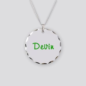 Devin Glitter Gel Necklace Circle Charm