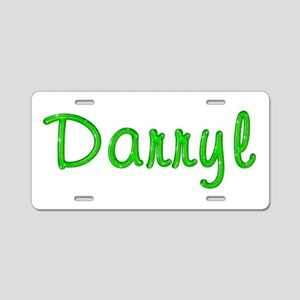 Darryl Glitter Gel Aluminum License Plate