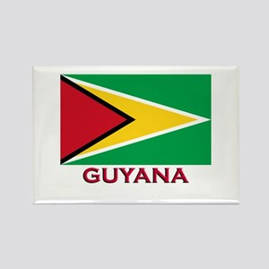 Guyana Flag Gear Rectangle Magnet