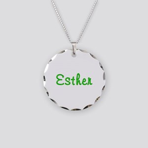Esther Glitter Gel Necklace Circle Charm