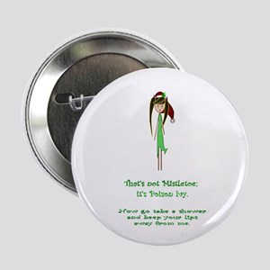 "Thats not mistletoe 2.25"" Button"
