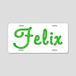 Felix Glitter Gel Aluminum License Plate