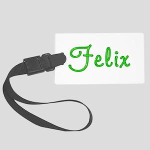 Felix Glitter Gel Large Luggage Tag