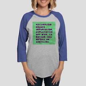 shirt nationalism Womens Baseball Tee