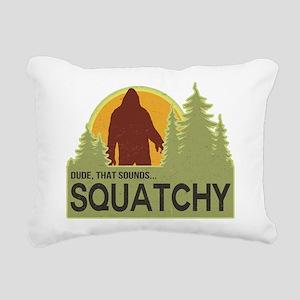 squatch-5 Rectangular Canvas Pillow