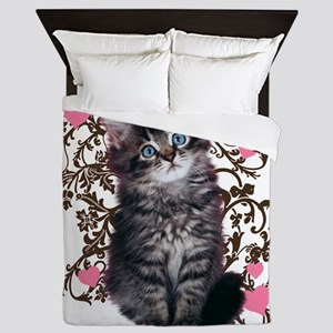 Cute Kitten Kitty Cat Lover Queen Duvet