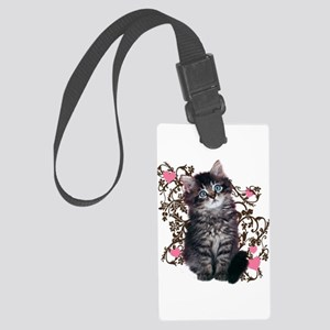 Cute Kitten Kitty Cat Lover Large Luggage Tag