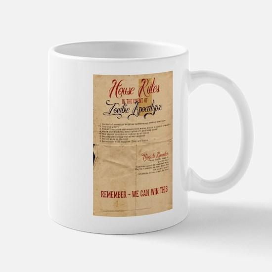Zombie Apocalypse House Rules Vintage Mug