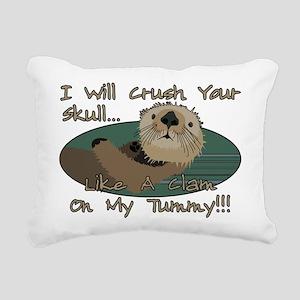 Otter Skull Crush Rectangular Canvas Pillow