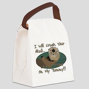 Otter Skull Crush Canvas Lunch Bag