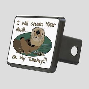 Otter Skull Crush Rectangular Hitch Cover