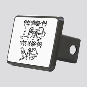 Live And Die Rectangular Hitch Cover