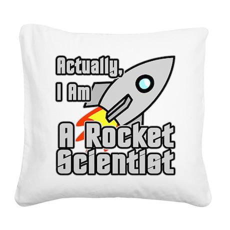Rocket Scientist Square Canvas Pillow