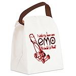 EmoLawnDesign Canvas Lunch Bag