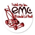 EmoLawnDesign Round Car Magnet