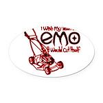 EmoLawnDesign Oval Car Magnet