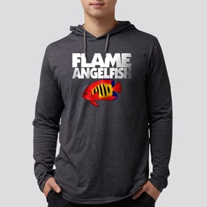 flameangelfish_blk Mens Hooded Shirt