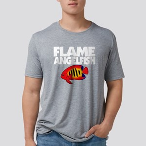 flameangelfish_blk Mens Tri-blend T-Shirt