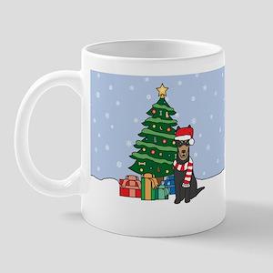 Australian Kelpie Christmas Mug