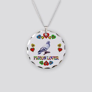 Pigeon Lover Necklace Circle Charm