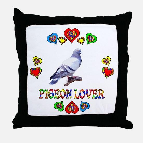 Pigeon Lover Throw Pillow