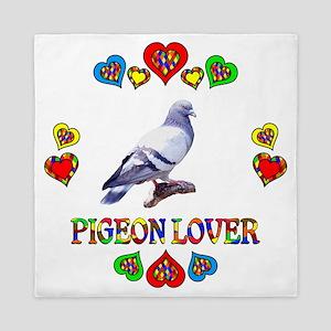 Pigeon Lover Queen Duvet