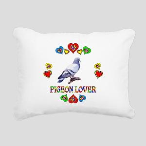 Pigeon Lover Rectangular Canvas Pillow