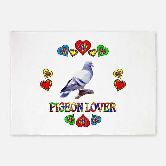 Pigeon Lover 5'x7'Area Rug