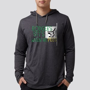 rodgers sits when he pees Mens Hooded Shirt