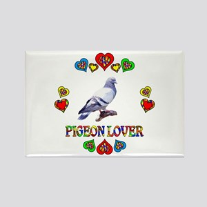 Pigeon Lover Rectangle Magnet