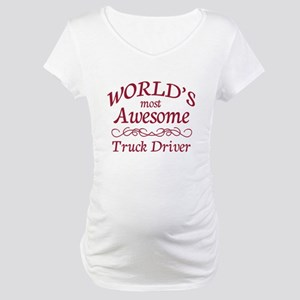 Awesome Truck Driver Maternity T-Shirt