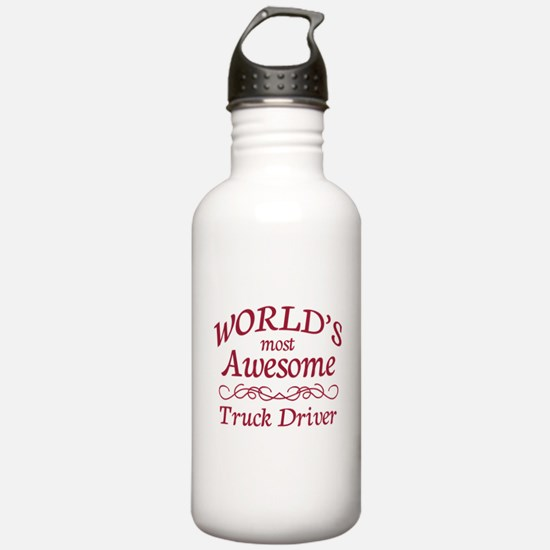 Awesome Truck Driver Water Bottle