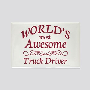 Awesome Truck Driver Rectangle Magnet