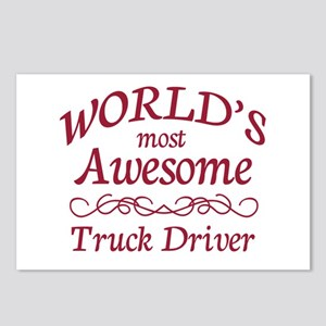 Awesome Truck Driver Postcards (Package of 8)