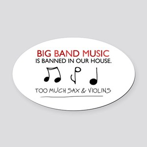 'Big Band Music' Oval Car Magnet