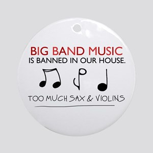 'Big Band Music' Ornament (Round)