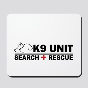 Search and Rescue K9 Unit Mousepad
