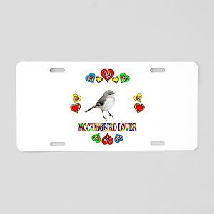 Mockingbird Lover Aluminum License Plate