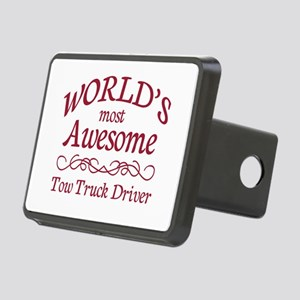 Awesome Tow Truck Driver Rectangular Hitch Cover