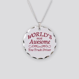 Awesome Tow Truck Driver Necklace Circle Charm