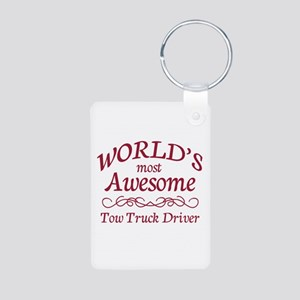 Awesome Tow Truck Driver Aluminum Photo Keychain